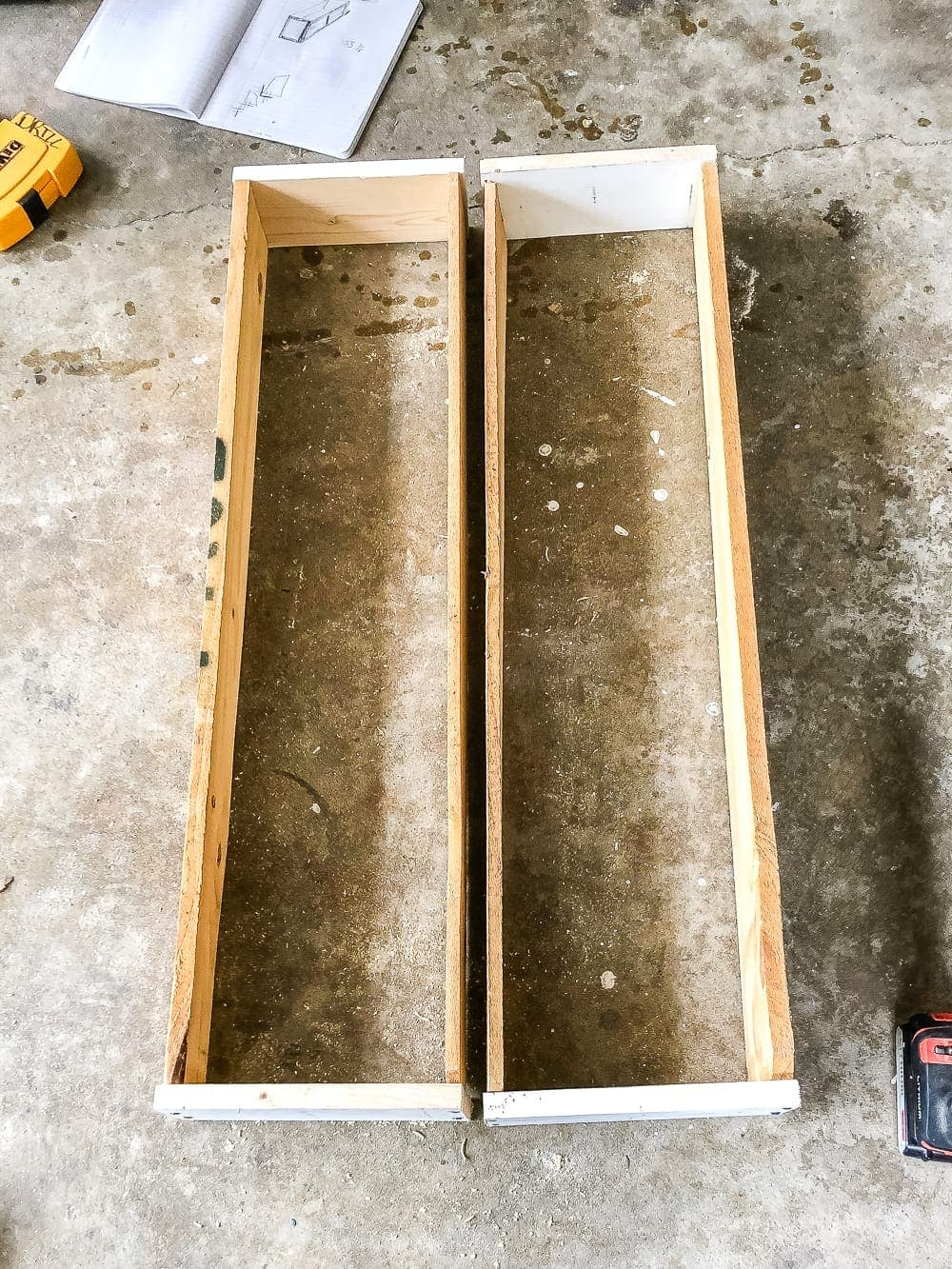 diy window boxes using scrap wood
