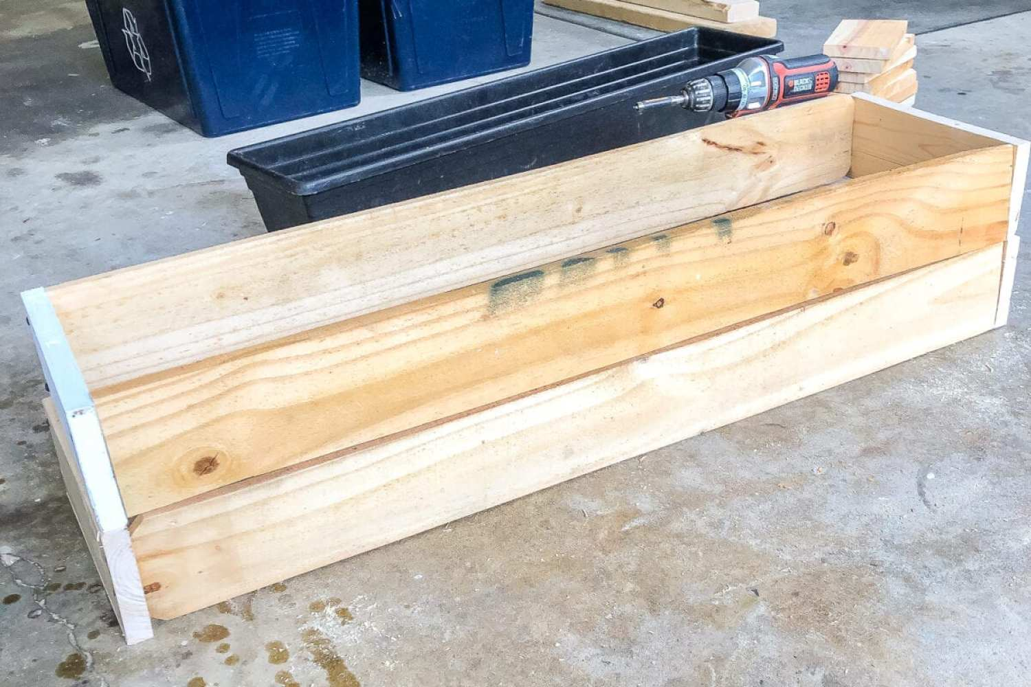 diy window box using scrap wood