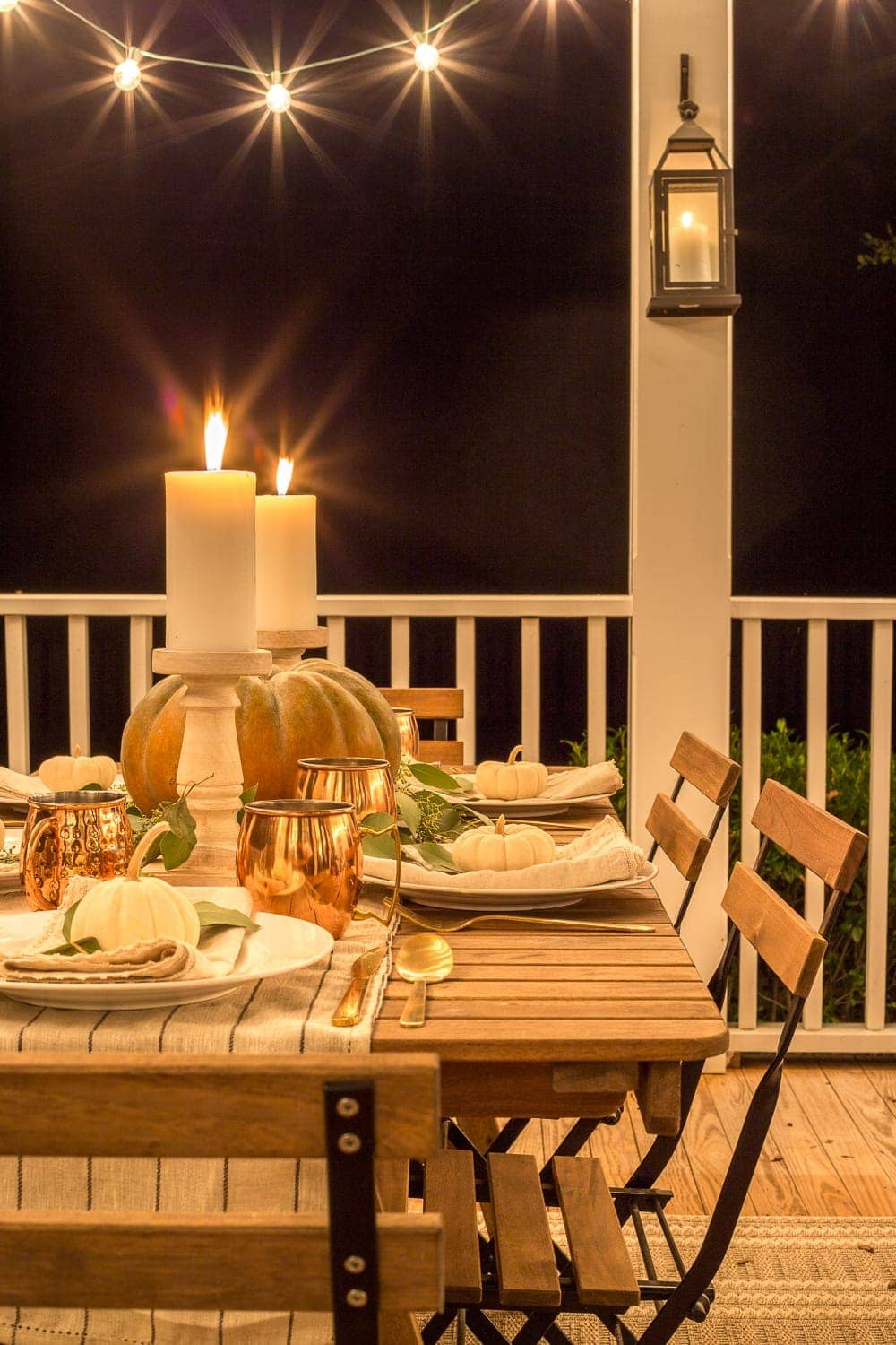 outdoor dining table fall