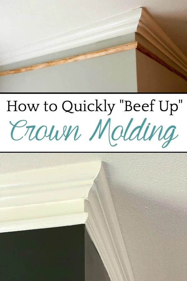 How to Quickly Beef Up Crown Molding and Baseboards | One easy trick to make thin crown molding and baseboards thicker and more stately for less than $1 per foot.