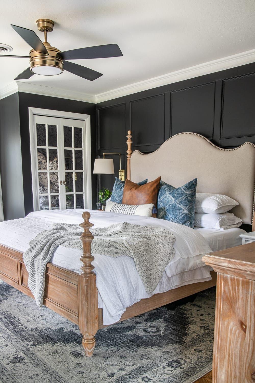 Our Moody Modern Vintage Master Bedroom Reveal! - Bless'er ...