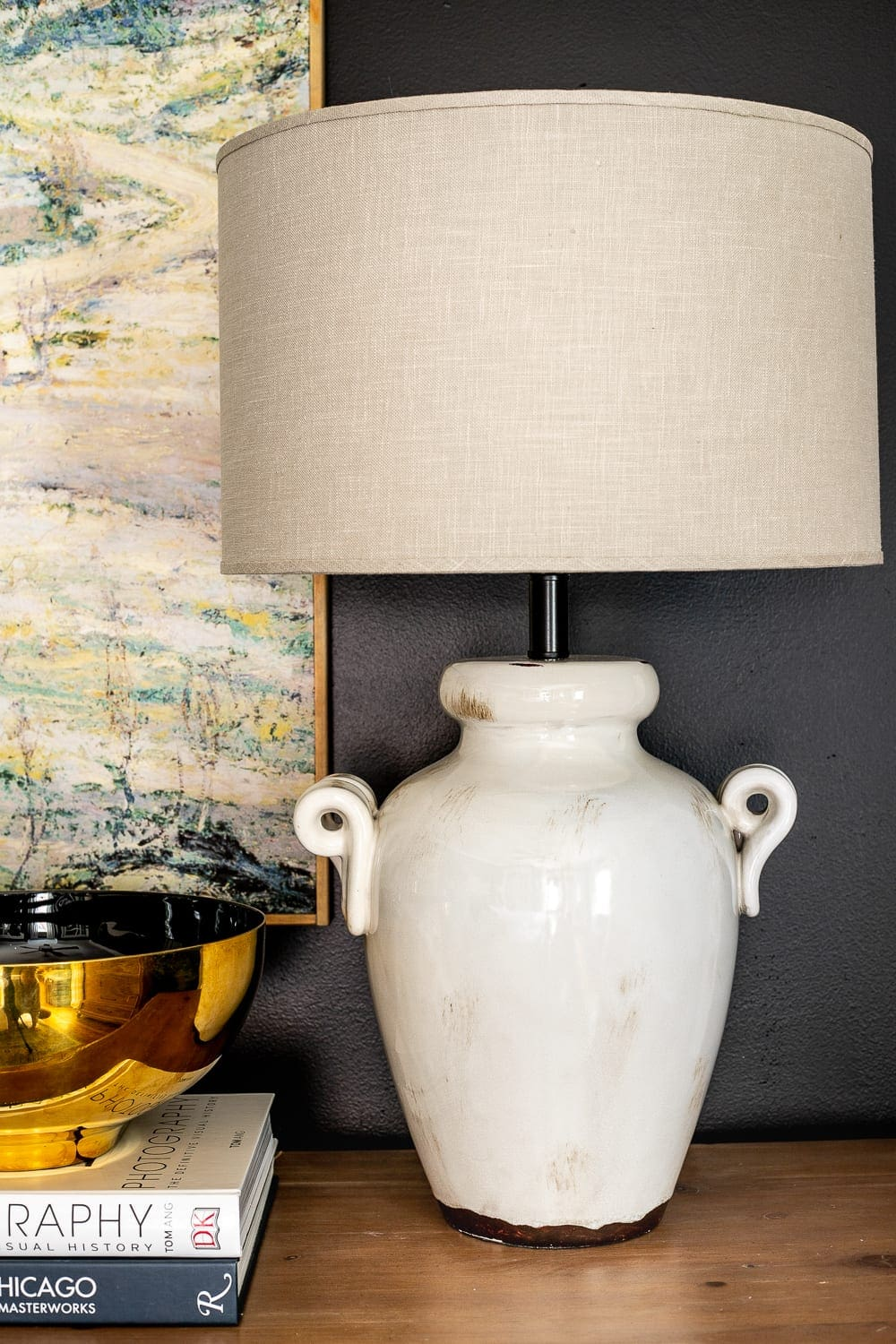 master bedroom table lamp on dresser
