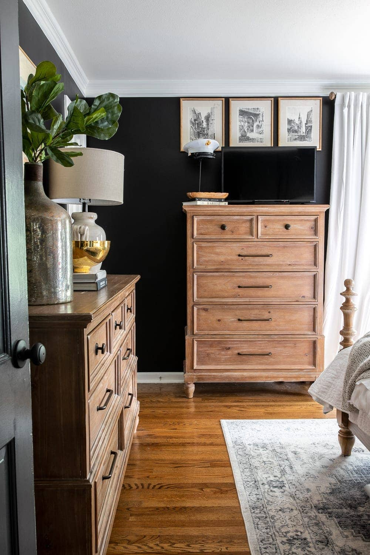 Our Moody Modern Vintage Master Bedroom Reveal Bless Er House