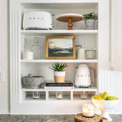 Simplified Decorating: How to Decorate Shelves