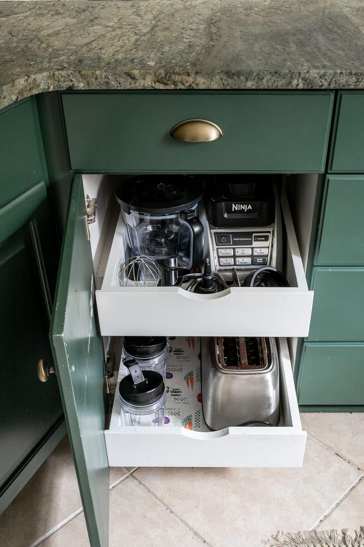 Kitchen Organization Makeover | Small Appliance Cabinet Organization