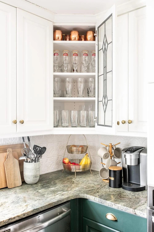 Kitchen Organization Makeover | Glassware Organization