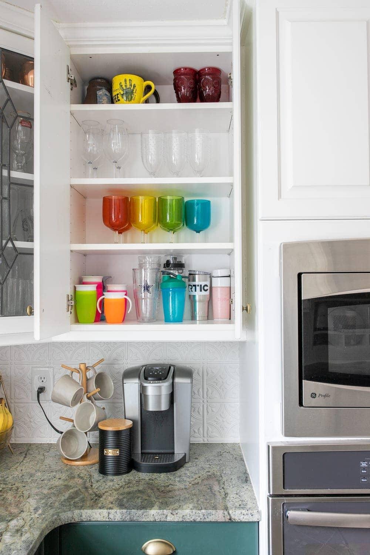 Kitchen Organization Makeover | Cups Organization