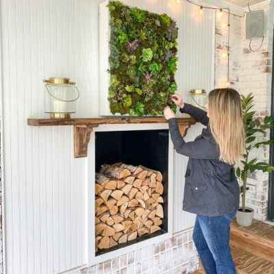 DIY Vertical Wall Planter from Wood Scraps