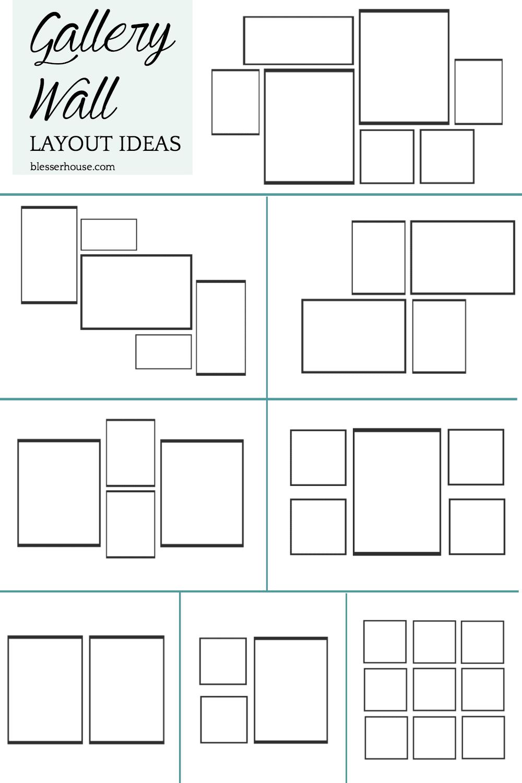 DIY Wall Decor Ideas | gallery wall layout ideas