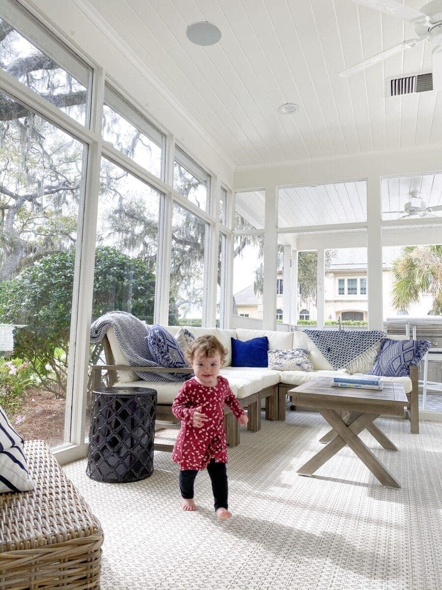 Sea Island Coastal House Tour | coastal sun room