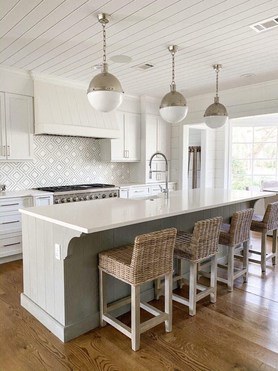 Sea Island Coastal House Tour | coastal kitchen