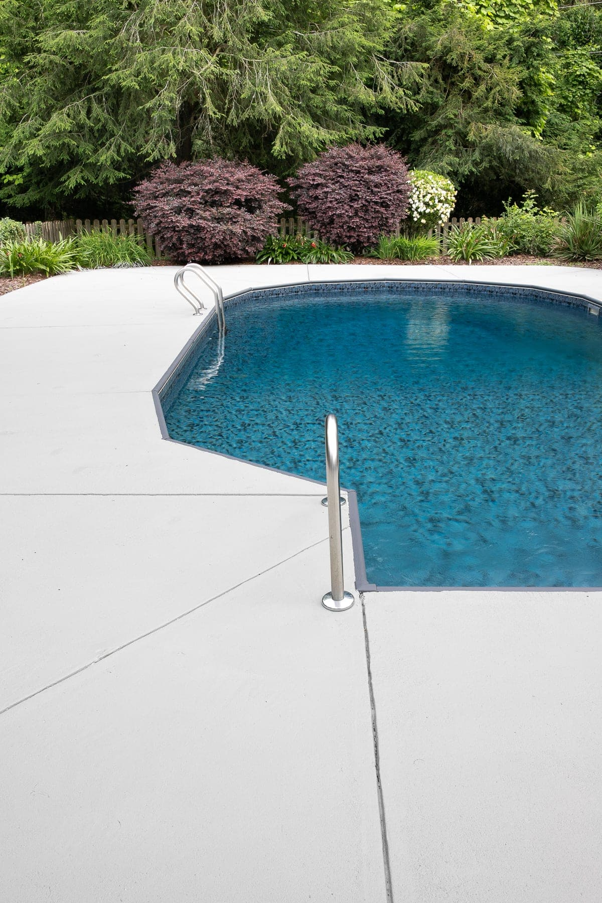 Diy Painted Concrete Pool Deck And Patio Bless Er House