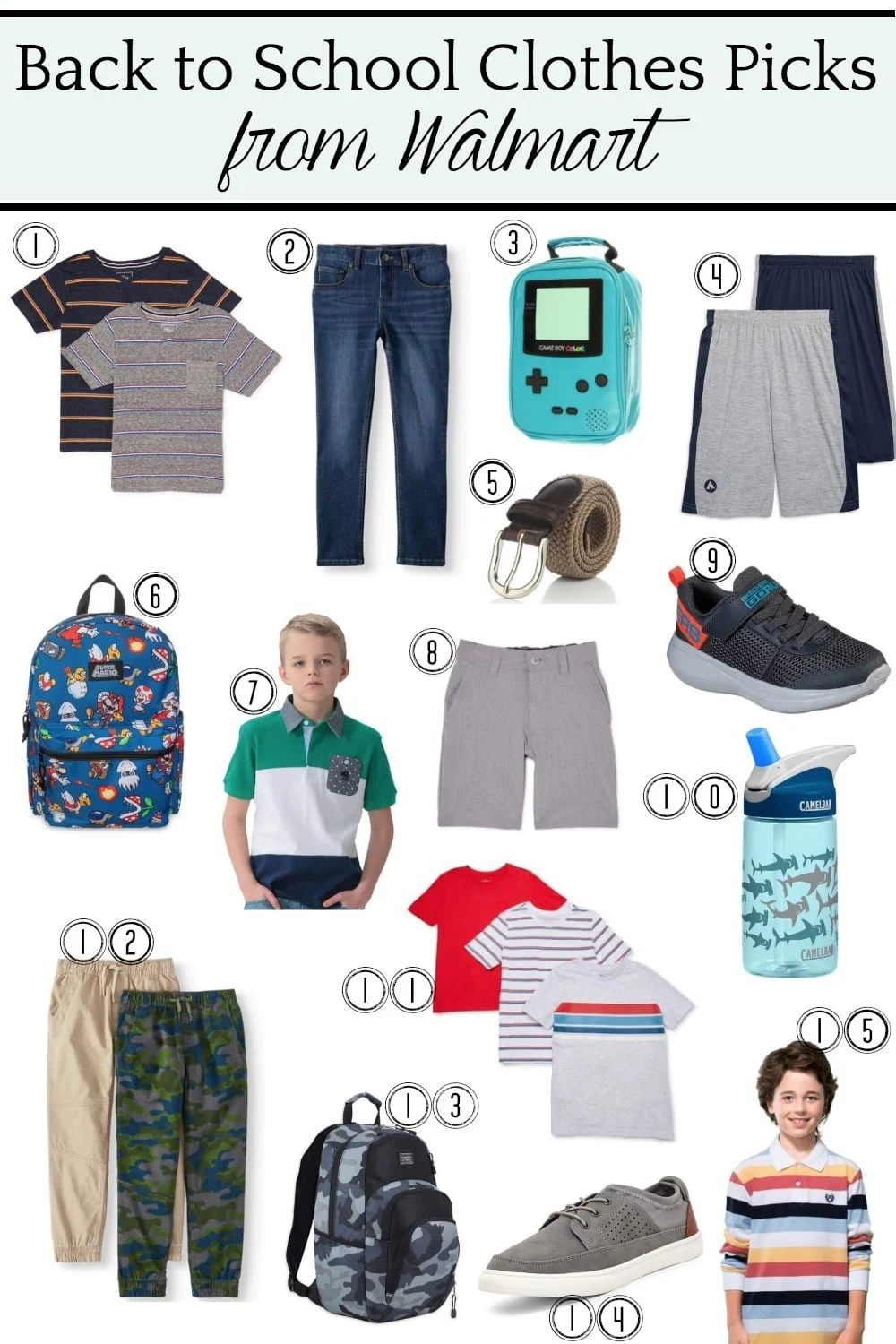Back to School Clothes Picks from @walmart for Boys #ad #backtoschool