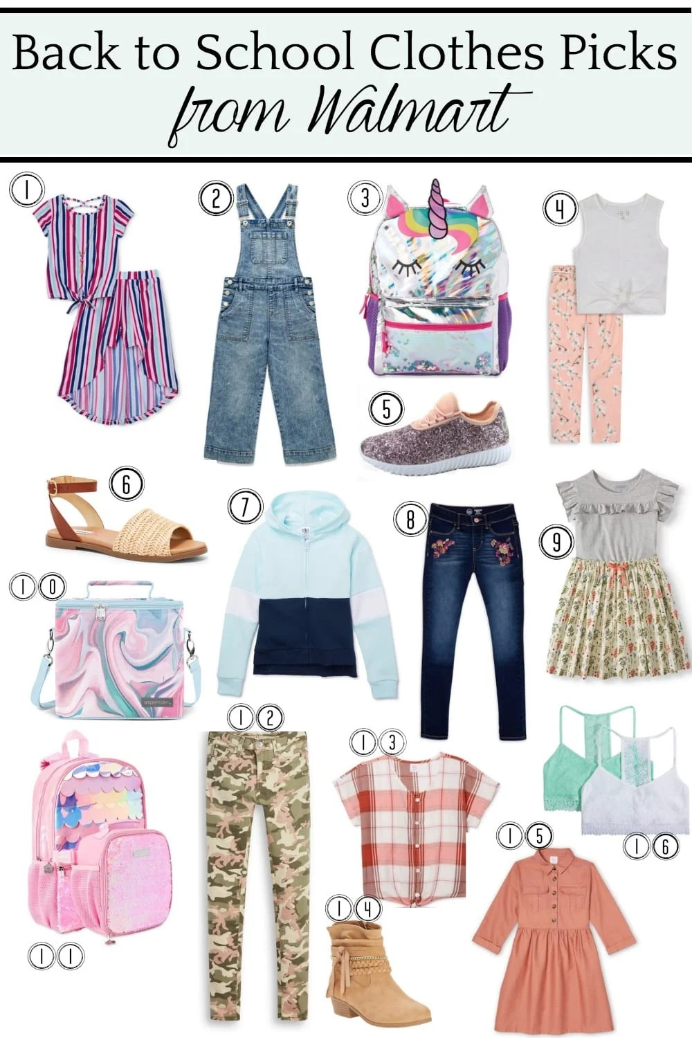 Back to School Clothes Picks from @walmart for Girls #ad #backtoschool