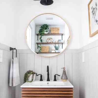 California Casual Powder Room Reveal
