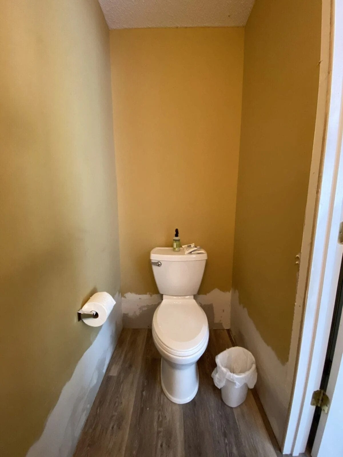 before gold bathroom