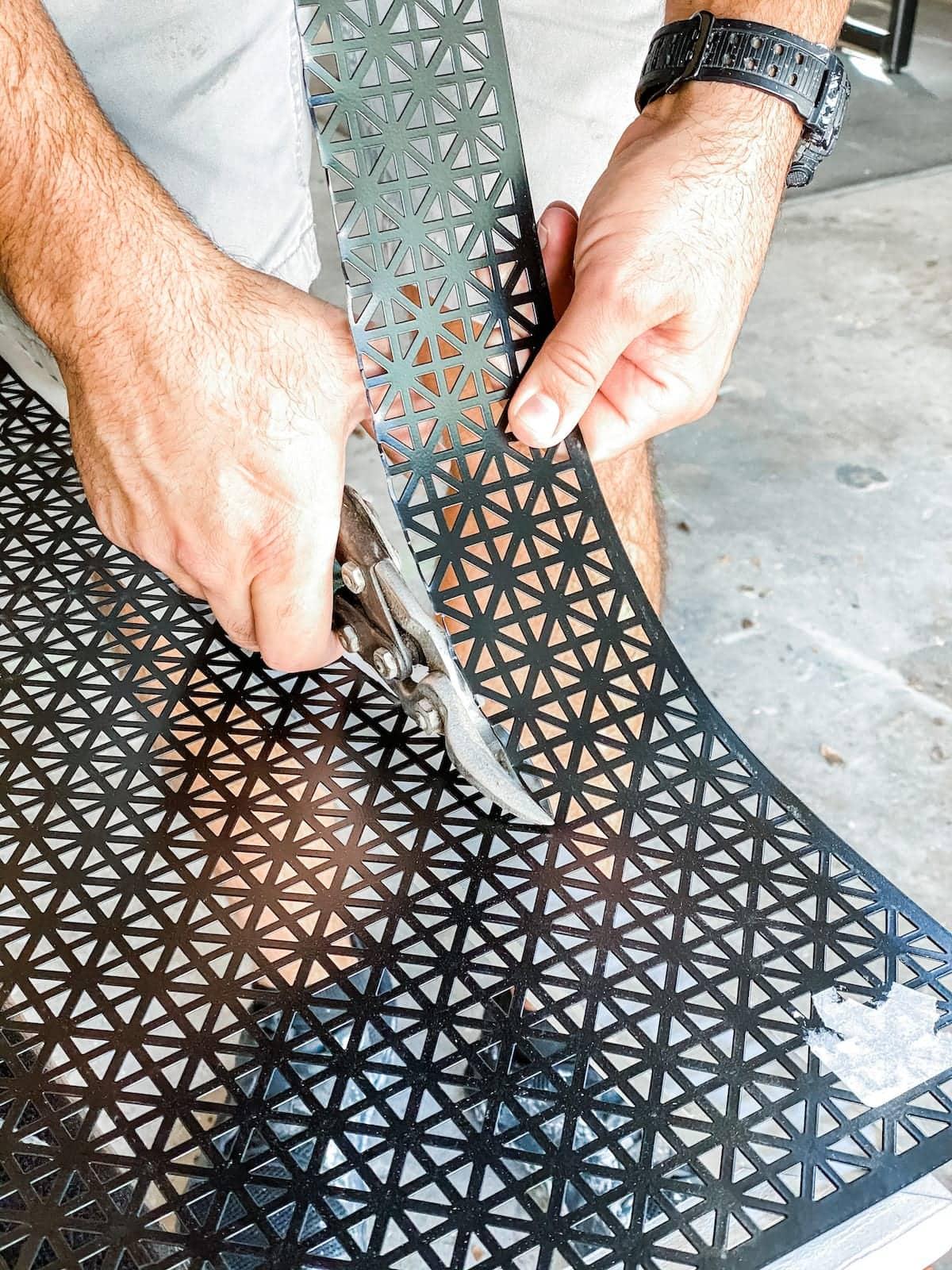 DIY vent cover using decorative sheet metal