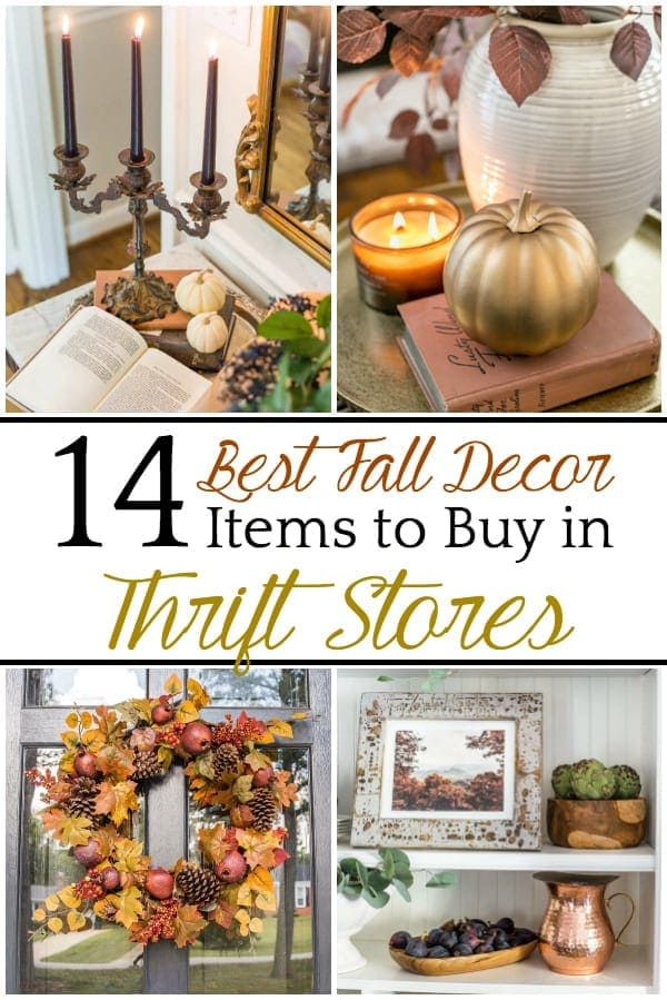 14 Best Fall Decor Items to Buy in Thrift Stores | A round-up of 14 commonly found thrift store items that work perfectly in fall decor or year-round + tutorials for creating cozy decor.