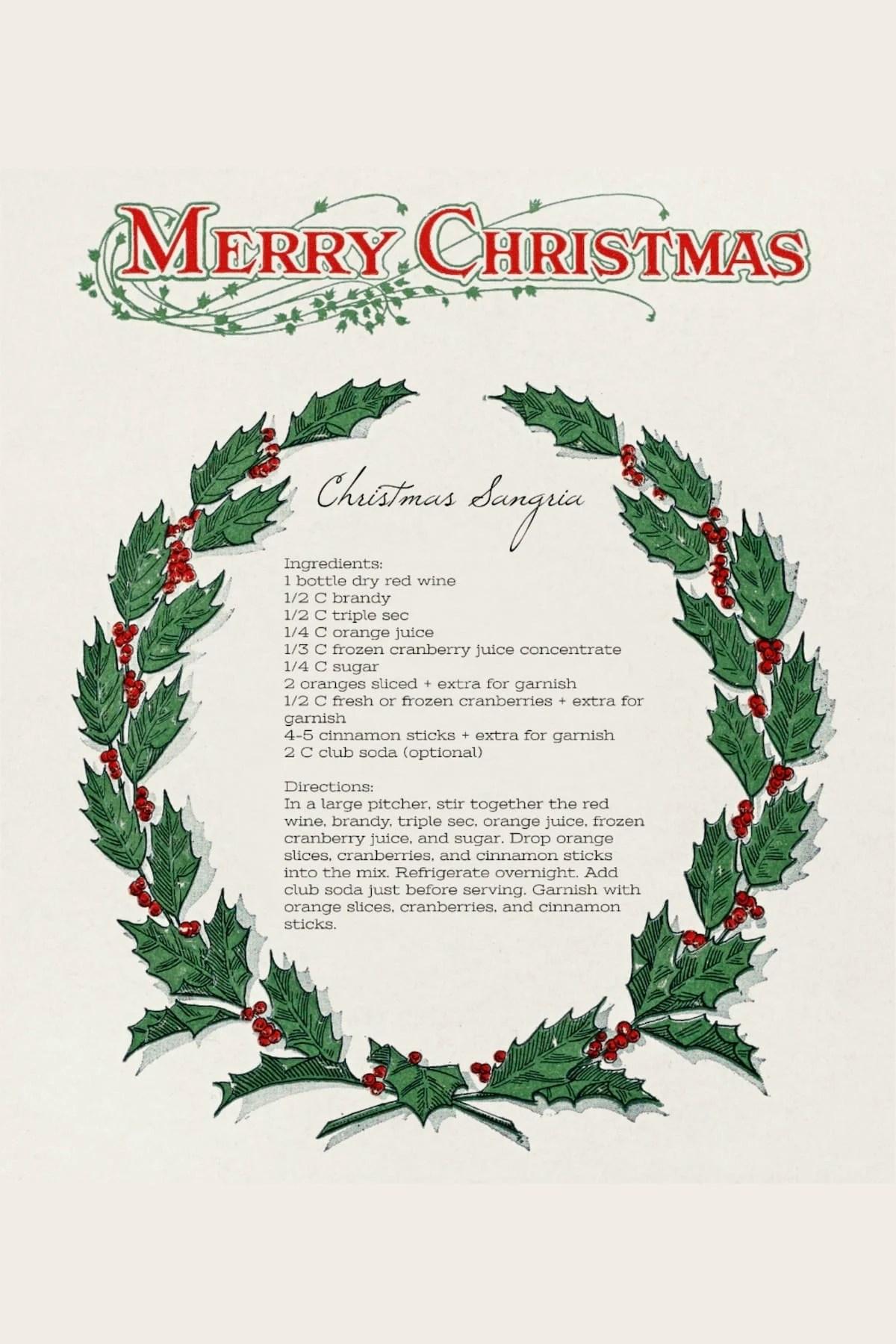 Best ever Christmas sangria recipe