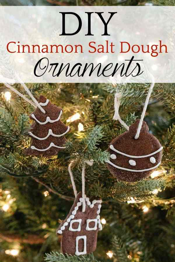 DIY Cinnamon Salt Dough Ornaments | A step-by-step tutorial to make cinnamon salt dough ornaments that look just like gingerbread cookies, smell amazing, and last for years.