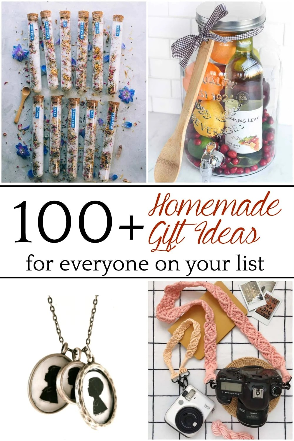 Over 100 DIY Christmas Gifts for Everyone on Your List | Over 100 brilliant DIY Christmas gifts related to homemade toys, home decor, fashion, beauty, food, and crafts.