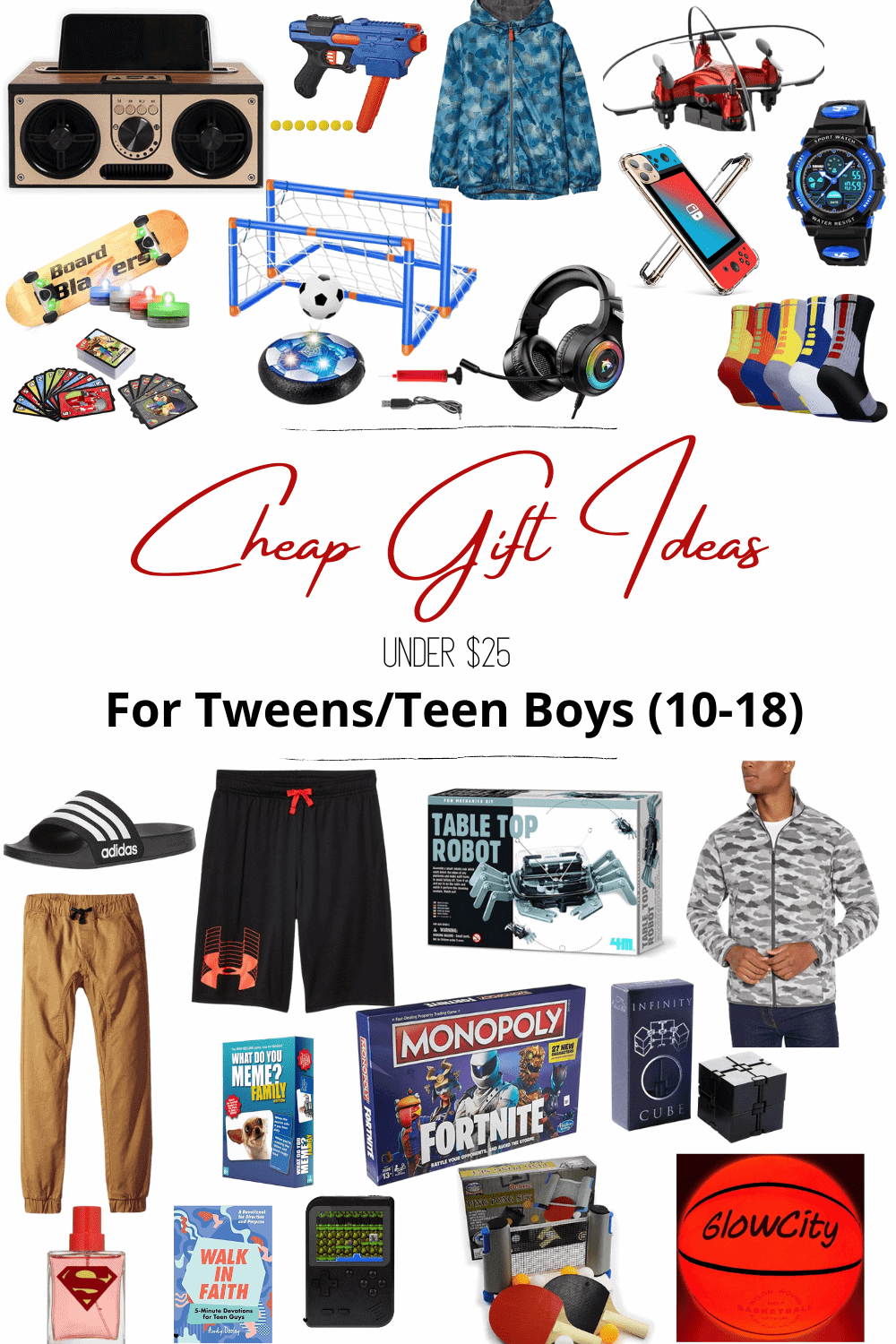 cheap gift ideas for tween and teen boys