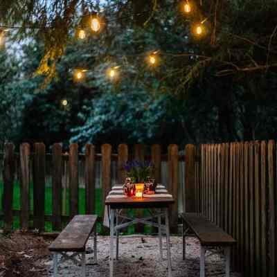 DIY Hidden Backyard Beer Garden