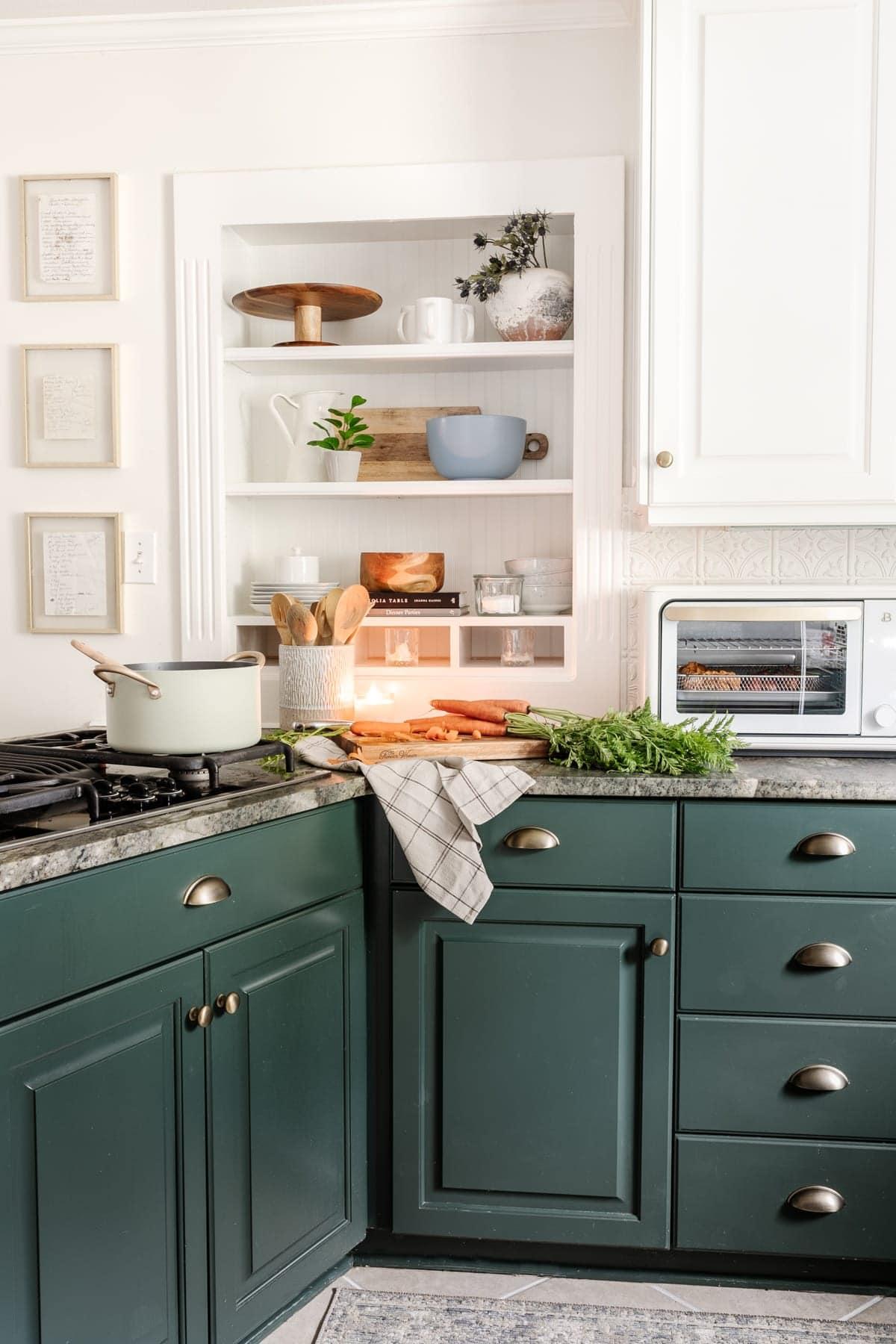 modern cottage style kitchen refresh
