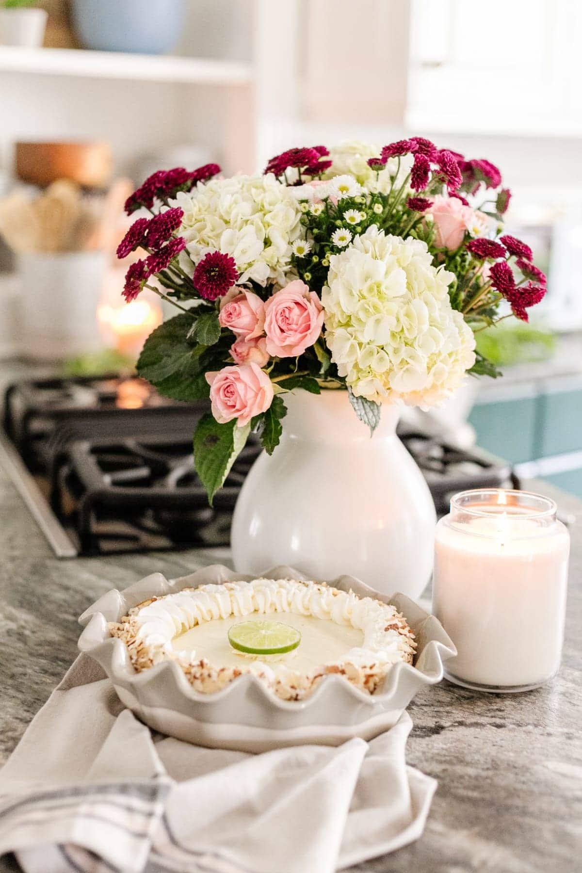cottagecore style ruffled pie plate