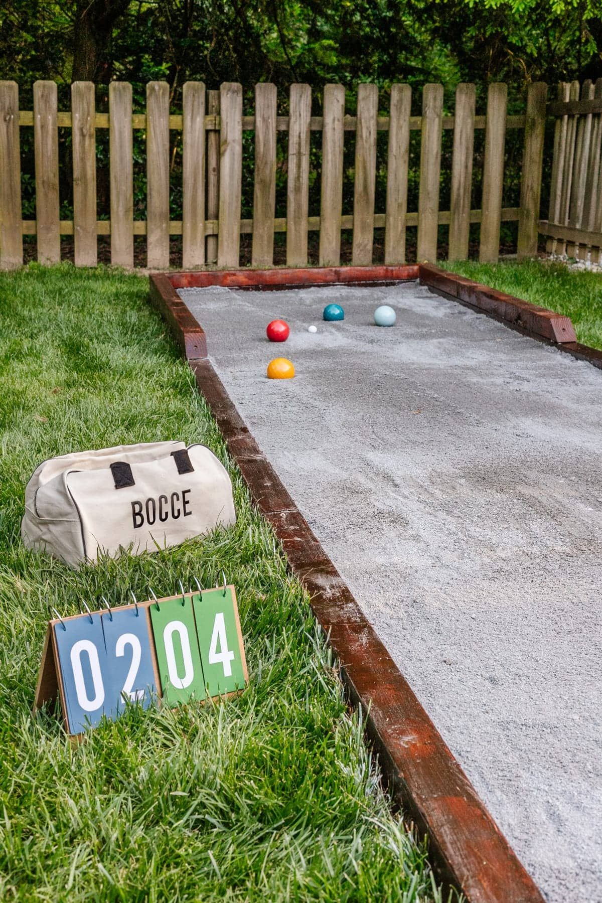 bocce ball court finished