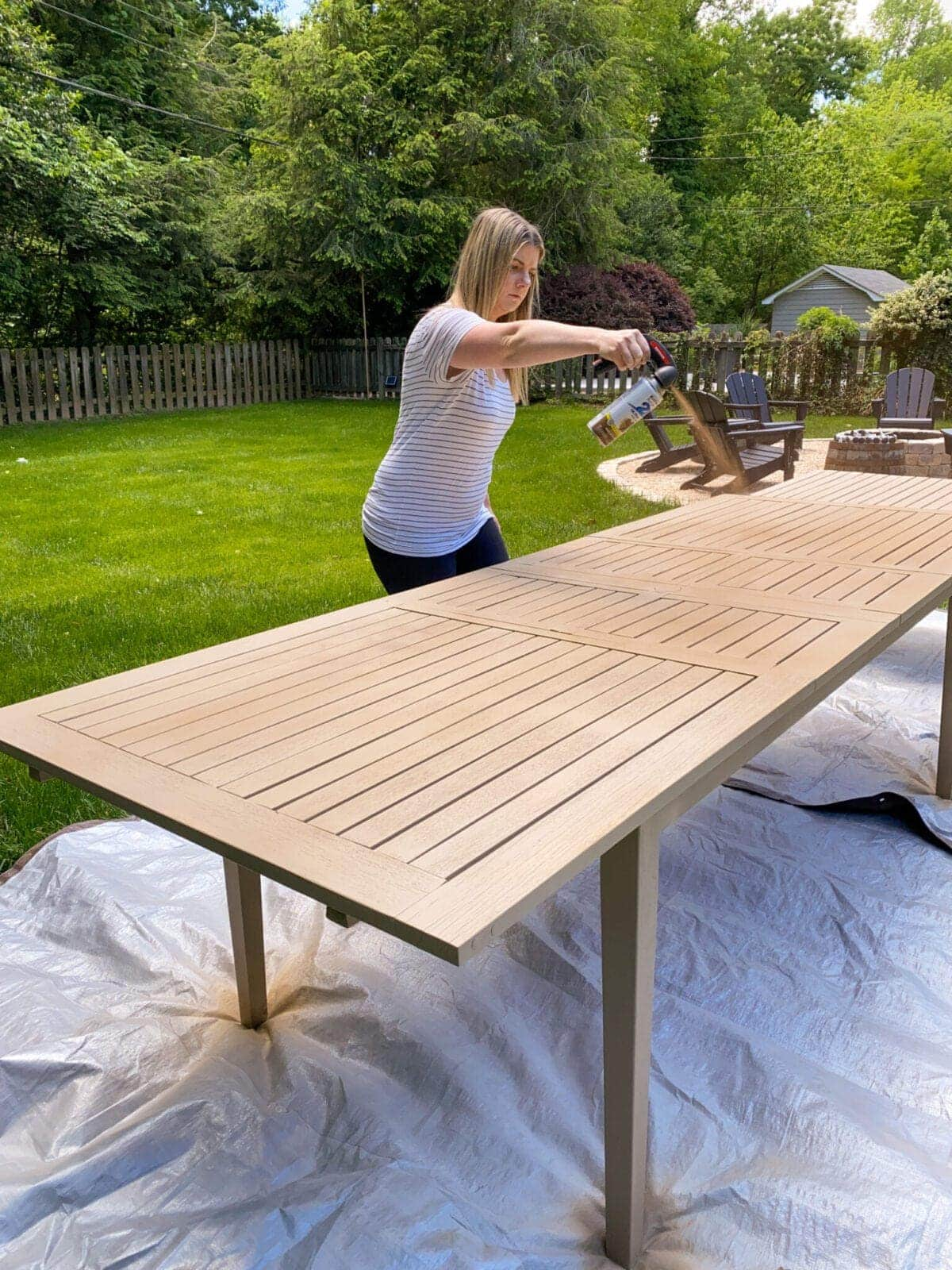 how to add depth using spray paint for a driftwood finish