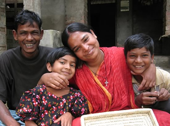 One of our Bengali weavers, ELG, and her family has been blessed from you purchasing her baskets.