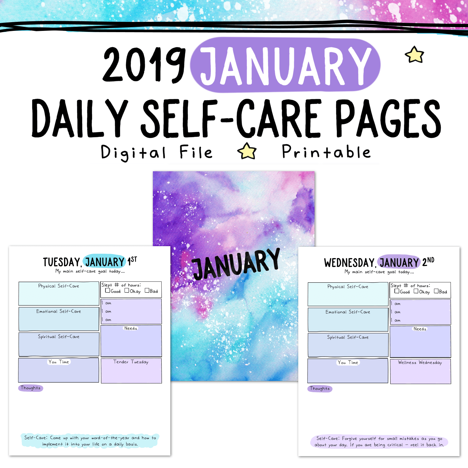 daily self-care worksheets