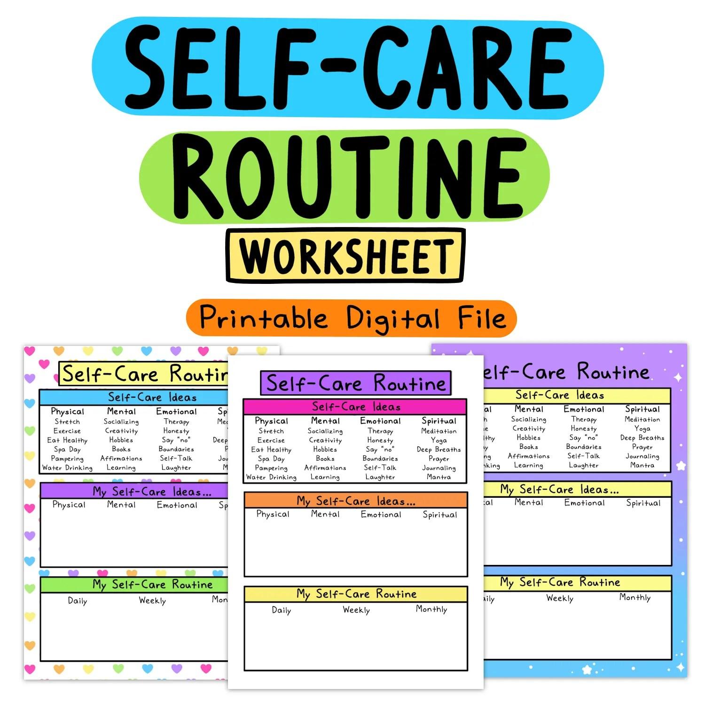 Self Care Worksheets