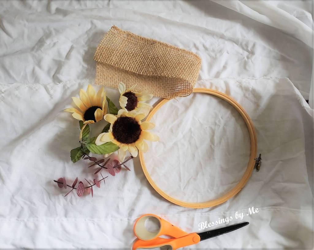 Hoop Wreath Materials Needed