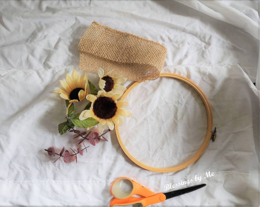 Hoop Wreath Materials Needed