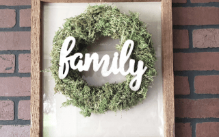 farmhouse wreath frame