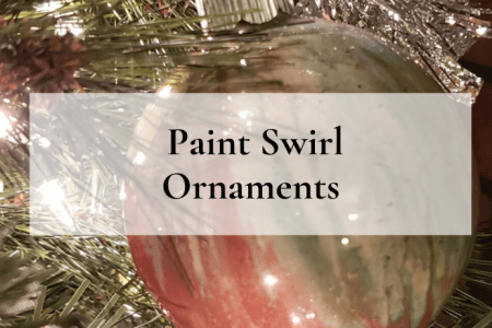 Paint Swirl Ornaments