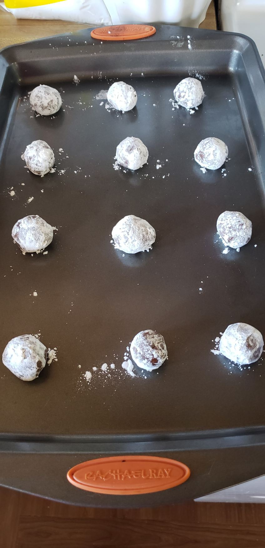 Roll the cookie dough into balls
