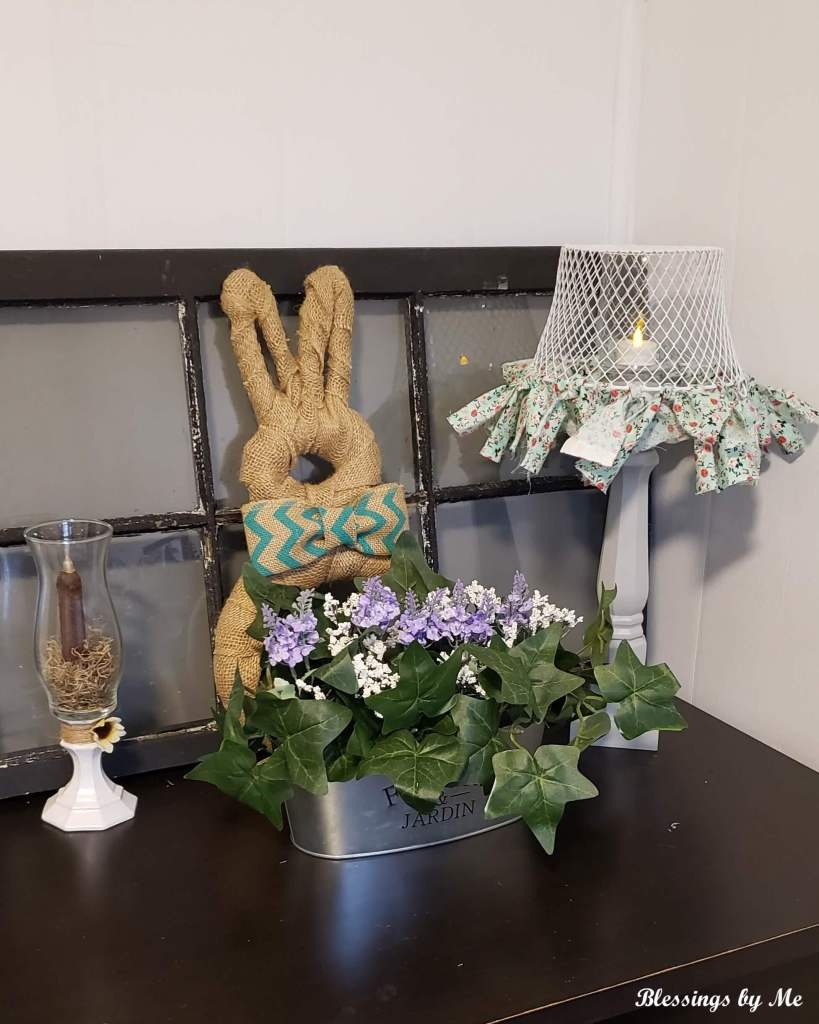 Easter Decor - Shabby Chic Lamp