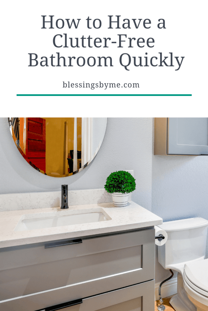 How to have a clutter-free bathroom quickly2