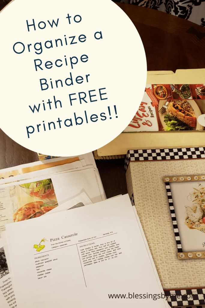 How to organize a  recipe binder