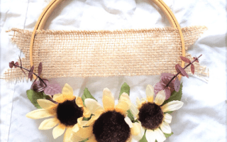 Hoop wreath Dollar Tree DIY