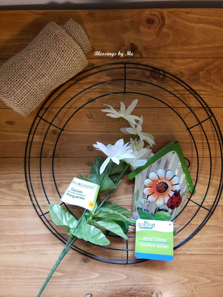 Materials for Spring Wreath