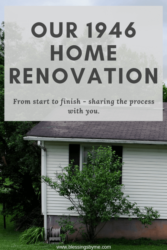 Our 1946 home renovation update - sharing the process with you