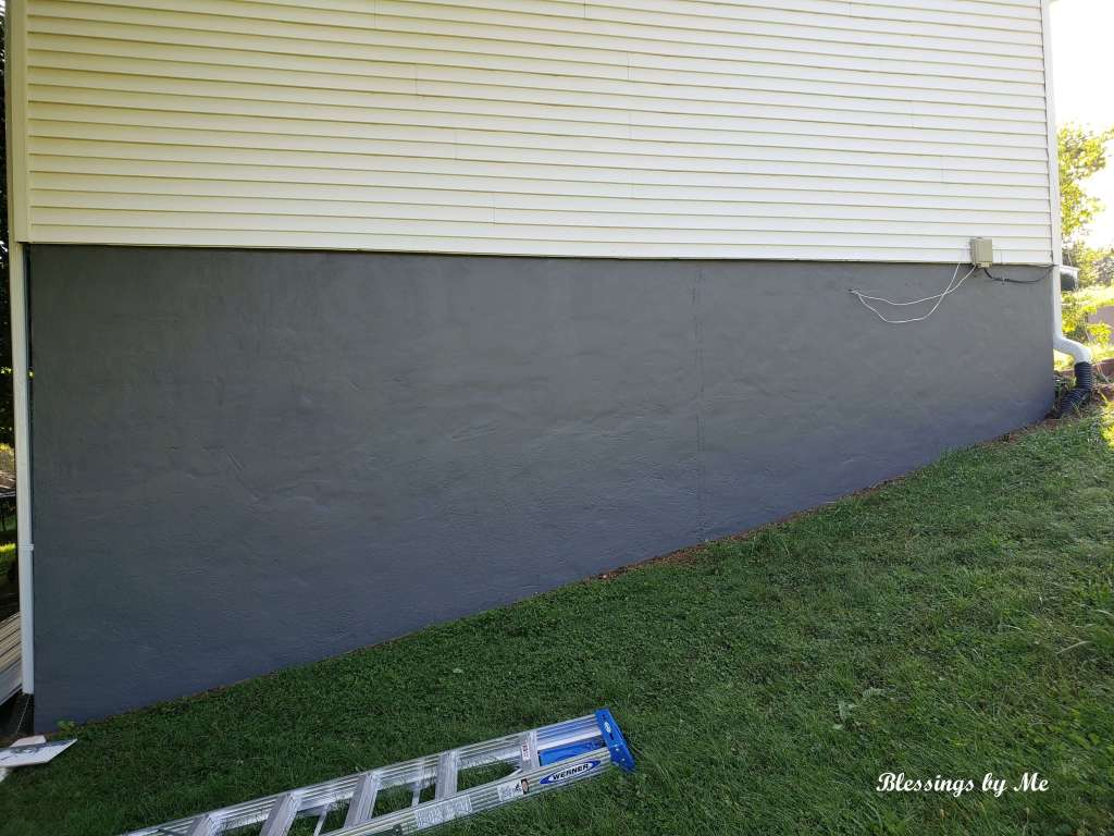 Side of foundation after painting