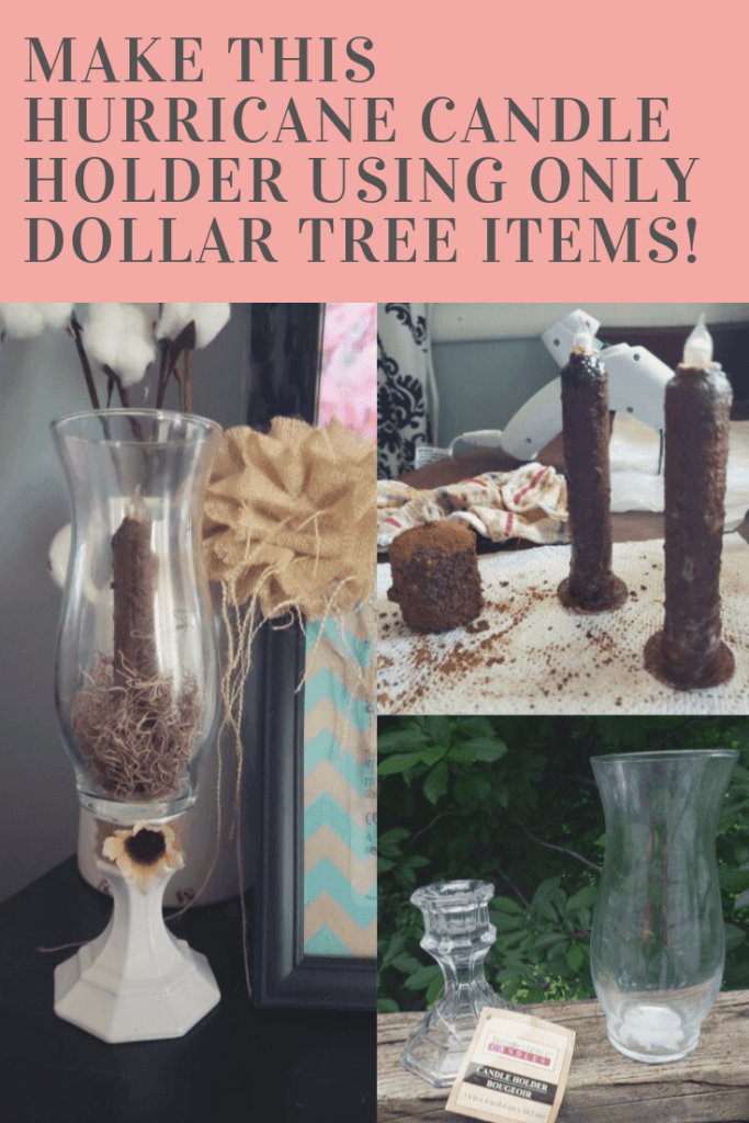 Hurricane Candle Holder - Dollar Tree DIY