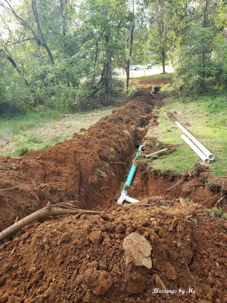 Pipes laid for sewer hookup