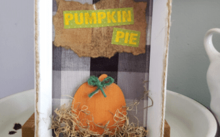Pumpkin Pie Fall Decor