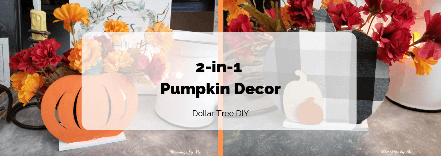 2-in-1 pumpkin decor feature